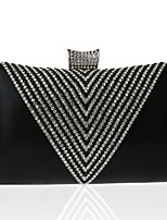 cheap -Women's Glitter / Crystals Polyester / Alloy Evening Bag Geometric Pattern Gold / Silver / Black