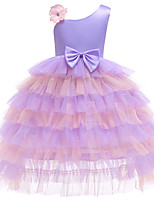 cheap -Princess Dress Flower Girl Dress Girls' Movie Cosplay A-Line Slip Cosplay Purple / Light Blue Dress Halloween Carnival Masquerade Tulle Polyester