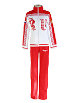 cheap -Inspired by Yuri!!! on ICE Victor Nikiforov Anime Cosplay Costumes Japanese Cosplay Suits Coat Pants For Men's Women's