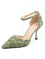 cheap -Women's Heels Stiletto Heel Pointed Toe Suede Spring & Summer Black / Green