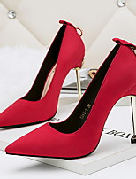 cheap -Women's Heels Stiletto Heel Pointed Toe PU Spring & Summer Black / Red / Gray