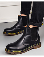 cheap -Women's Boots Flat Heel Round Toe PU Spring & Summer Black / Red