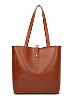 cheap -Women's Buttons PU Top Handle Bag Solid Color Black / Brown / Wine