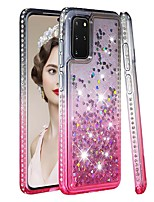 cheap -Case For Samsung Galaxy Samsung Galaxy A50s / Samsung Galaxy A30s / Samsung Galaxy A10s Rhinestone / Flowing Liquid / Transparent Back Cover Color Gradient / Glitter Shine TPU