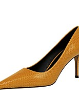 cheap -Women's Heels Stiletto Heel Pointed Toe PU Spring & Summer Black / Nude / Yellow