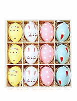 cheap -Happy Easter bunny egg Holiday Decorations 1 set