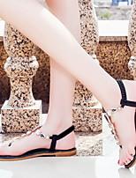 cheap -Women's Sandals Flat Heel Open Toe PU Summer Green / Black