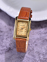 cheap -Quartz Watches Casual Fashion Black Brown PU Leather Chinese Quartz Black Golden / Brown White / Black Casual Watch Lovely 1 pc Analog