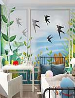 cheap -Custom Self-adhesive Mural Wallpaper Spring Children Cartoon Style Suitable For Bedroom Children's Room School Party