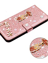 cheap -Case For Samsung Galaxy A51 / M40S / A71 Wallet / Shockproof Christmas Deer Diamond Glitter PU Leather Case For Samsung S20 Plus / S20 Ultra / A20e/ A50s/ A30s/ A10/A60/A70/A80/ S10E /S10 5G/ S10 Plus