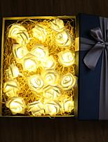 Недорогие -на батарейках 3м 30led роза цветок гирлянда свадьба дом день рождения день святого валентина вечеринка гирлянда люминария