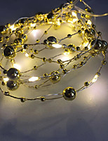 cheap -Pearl String LED Copper Wire String Lights Wedding Decoration String Lights