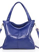 cheap -Women's Zipper PU Top Handle Bag Solid Color Wine / Blushing Pink / Blue