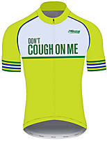 cheap -21Grams Men's Short Sleeve Cycling Jersey 100% Polyester Green Novelty Bike Jersey Top Mountain Bike MTB Road Bike Cycling UV Resistant Breathable Quick Dry Sports Clothing Apparel / Stretchy