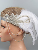 cheap -Dance Accessories 1920s / The Great Gatsby Women's Alloy / Feather / Fur Feather / Crystals Vintage / Costume & Disguise