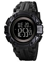 cheap -SKMEI Men's Digital Watch Quartz Sporty Silicone Black / Green 50 m Military Calendar / date / day Chronograph Digital Outdoor Fashion - Red Green Blue One Year Battery Life