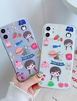 cheap -Case For Apple iPhone 11 / iPhone 11 Pro / iPhone 11 Pro Max Shockproof / Ultra-thin / Transparent Back Cover Food / Transparent / Cartoon TPU
