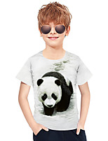 cheap -Kids Boys' Active Punk & Gothic 3D Plaid Animal Short Sleeve Tee White