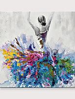 cheap -Dancing Girl Canvas Abstract Portrait Impressionism Contemporary Abstract Oil painting On Canvas