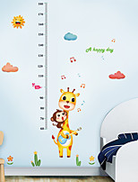 cheap -Kids Height Chart Wall Sticker Decor Cartoon Giraffe Monkey Height Ruler Wall Stickers Home Room Decoration Wall Art Sticker Poster