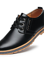 cheap -Men's Faux Leather Spring & Summer / Fall & Winter Business / Casual Oxfords Breathable Brown / Black