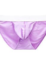cheap -Men's Basic Briefs Underwear - Normal Low Waist Black Light Blue White S M L