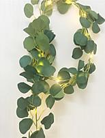 cheap -2M Artificial Dark Green Eucalyptus Garland Fairy String Leaves Vine Fake Vines Rattan Artificial Plants Ivy Wreath Wall Decor Wedding Decoration