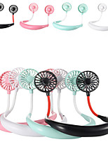 cheap -1200 mA  USB Portable Fan Hands-free Neck Fan Hanging Rechargeable Mini Sports Fans 3 gears Air Conditioner Adjustable Home