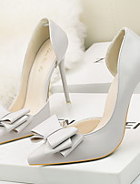 cheap -Women's Heels Stiletto Heel Pointed Toe PU Spring & Summer Black / White / Yellow