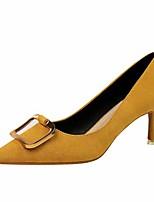 cheap -Women's Heels Stiletto Heel Pointed Toe Faux Leather Casual / Minimalism Spring / Summer Black / Almond / Purple
