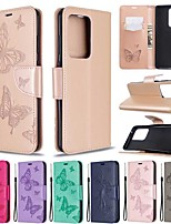 cheap -Case For Samsung Galaxy S20 Ultra / S20 Plus / S10 Plus Wallet / Card Holder / with Stand Full Body Cases  Butterfly PU Leather Case For Samsung S9 / S9 Plus / S10E /S10 / S20