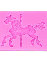 cheap -1pc New Carousel Mold Cake Decorated Chocolate Liquid DIY