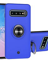 cheap -Case For Samsung Galaxy S9 / S9 Plus / Galaxy S10 Two-in-one Ring Holder Gyro decompression Back Cover Solid Colored TPU / PC For Galaxy S20/S20 Ultra/S20 Plus/S10E/Note 10 Plus/Note 10/S10 Plus