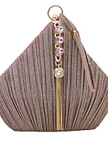 cheap -Women's Glitter / Tassel Polyester / Alloy Evening Bag Black / Blushing Pink / Gold