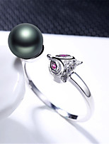 cheap -Women's Ring Pearl 1pc Silver Silver 2 Silver 3 Platinum Plated Alloy Stylish Daily Jewelry Cute