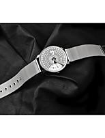 cheap -Women's Quartz Watches Fashion White Alloy Chinese Quartz White Black Casual Watch 1 pc Analog One Year Battery Life