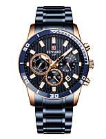 cheap -Men's Sport Watch Quartz Stainless Steel 30 m Water Resistant / Waterproof Day Date Analog Fashion Cool - White+Blue Gold Blue One Year Battery Life