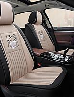 cheap -Car seat cover Comfortable Non-slip cartoon fabric all surround linen seat set Car cushion cute ice silk Four Seasons five seats