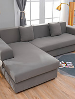 cheap -Simple Solid Color Elastic Sofa Cover Full Package Single Double Three Person Sofa Cover Multi Color