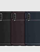 cheap -Case For Samsung Galaxy S9 / S9 Plus / A6 (2018) Shockproof Back Cover Solid Colored TPU / Carbon Fiber