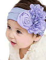 cheap -Kids / Toddler / Newborn Unisex / Girls' Active / Basic / Sweet Floral Rayon / Chiffon Hair Accessories White / Purple / Yellow One-Size