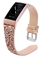 cheap -Watch Band for Fitbit Charge 3 Fitbit Jewelry Design Genuine Leather Wrist Strap