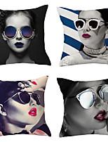 cheap -5 pcs Throw Pillow Simple Classic women 45*45 cm