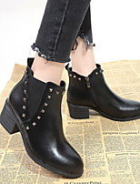 cheap -Women's Boots Chunky Heel Round Toe Suede Booties / Ankle Boots Fall & Winter Black