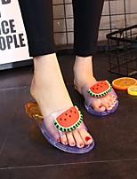 cheap -Women's Sandals Katy Perry Sandals Flat Heel Open Toe PU Summer Light Blue