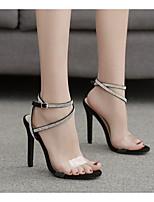cheap -Women's Heels Stiletto Heel Open Toe PU Spring & Summer Black