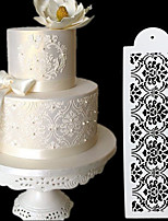 cheap -2pcs Cake Spray Pattern Border Fancy Lace Cake Hollow Template DIY baking pastry tool