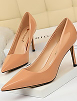 cheap -Women's Heels Stiletto Heel Pointed Toe PU Spring & Summer Black / Almond / Nude