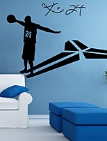 cheap -Kobe Shapes Wall Stickers Plane Wall Stickers Decorative Wall Stickers, PVC Home Decoration Wall Decal Wall Decoration 1pc