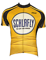 cheap -21Grams Men's Short Sleeve Cycling Jersey 100% Polyester Black / Yellow Stripes Bike Jersey Top Mountain Bike MTB Road Bike Cycling UV Resistant Breathable Quick Dry Sports Clothing Apparel